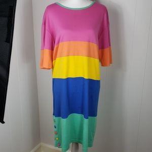 ❄ Charles Keith : Vintage Rainbow Dress